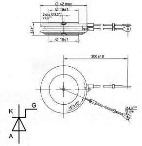 Тиристор Т123-320-14
